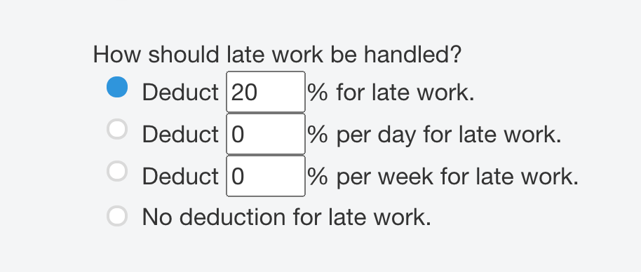 Image of late work options, found in Choose Lessons