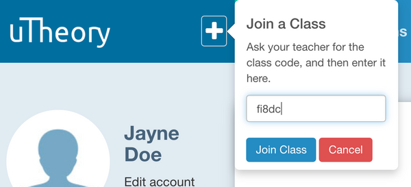 Join a Class by Code