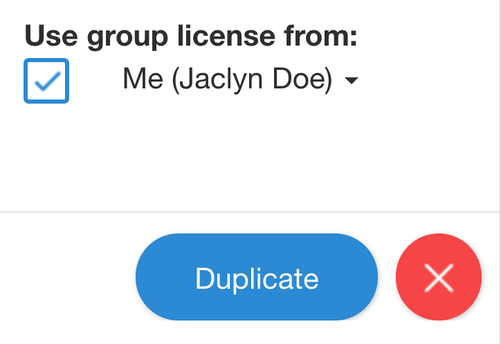Applying your group license to classes